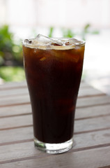 Ice coffee americano.