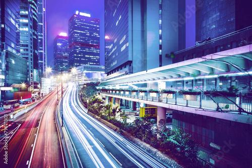 Poster Hong Kong city night scenes