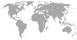 Weltkarte - graue Punkte - 79071525
