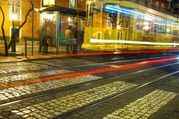 Lisbon street in night.