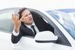 Businessman experiencing road rage - 79072367