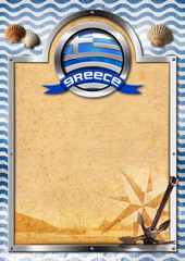 Signboard with Greek Flag