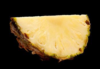 Pineapple fruit on black