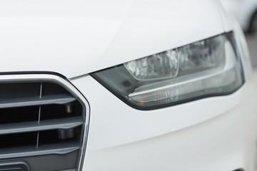 Close up of a headlight