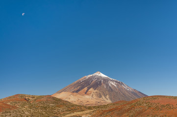 Arial view on volcano Teide and volcano of Fasnia