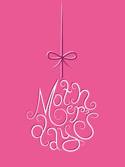 """""""HAPPY MOTHER'S DAY"""" (message card love)"""