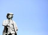 Carlo Goldoni Pillar statue in venice in italy
