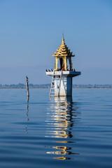 Buddhist shrine lake