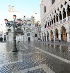 Saint Mark Basilica and Doge's Palace in Venice Italy