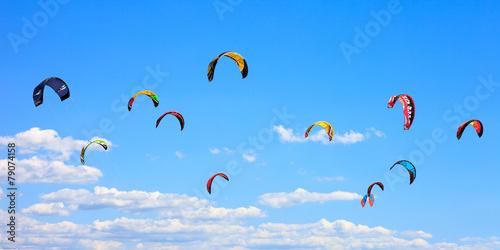 Leinwandbild Motiv Sails in the sky