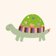 animal turtle theme elements vector,eps