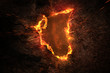 Leinwanddruck Bild - Fire Background