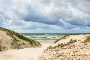 Sand dunes on the Baltic sea