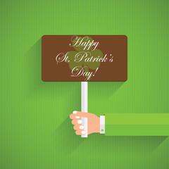 Happy St. Patrick's Day celebration with clover leaf