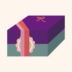 gift theme flat icon elements background,eps10