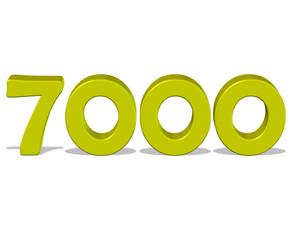 sarı renkli 7000 sayısı