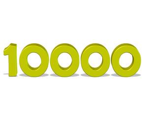 sarı renkli 10000 sayısı