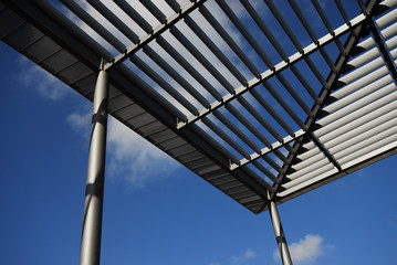 Dachkonstruktion mit Plexiglas