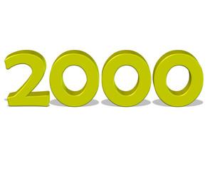 sarı renkli 2000 sayısı