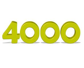sarı renkli 4000 sayısı
