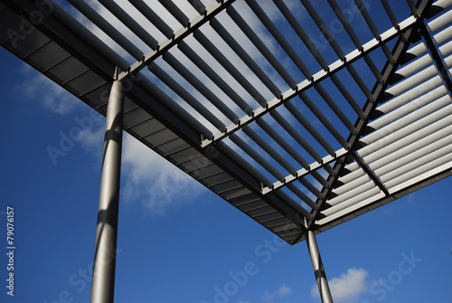 canvas print picture Dachkonstruktion mit Plexiglas