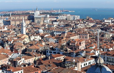 view of Venice ITALY from St Mark's Campanile