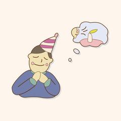 birthday make a wish theme elements vector,eps