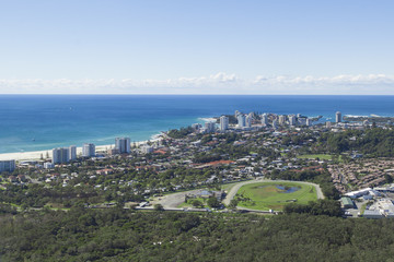 Aerial view of Coolangatta and Kirra