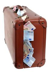 La valise de billets de banque