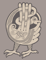 authentic decorative celtic bird