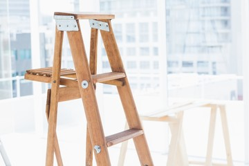 Step ladder in bright office