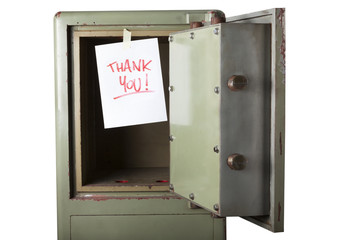 Theft. Domestic burglary. Safe box emptied by thieves. thank you