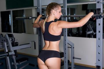 Girl resting in gym