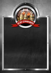 Blackboard for Ice Cream Menu