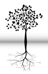 black tree silhouette for you design