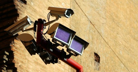 great camera and special lamps for the control of crimes in the