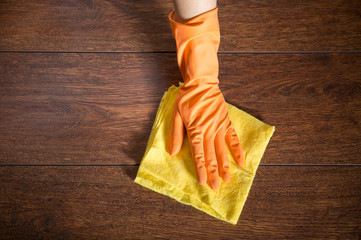Cleaning the parquet
