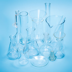 Empty laboratory glassware