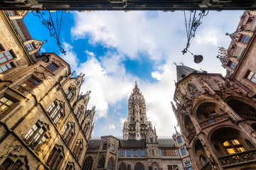 Gothic city hall courtyard