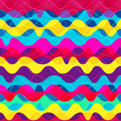 psychedelic wave seamless pattern