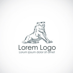 Lion logo, elite logotype