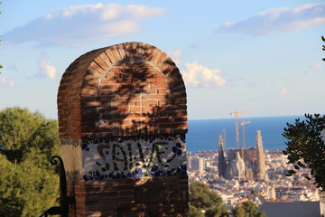 Barcellona, paesaggio, scorcio.