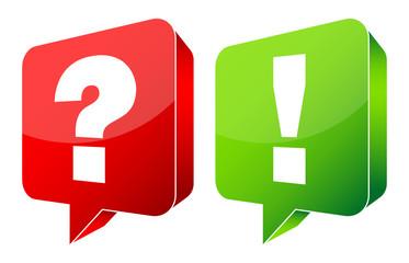 Speech Bubbles Question & Answer 3D