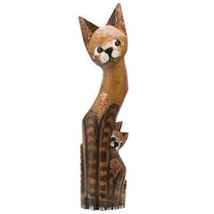 Кошка деревянная 2