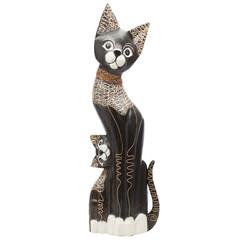Кошка деревянная 3