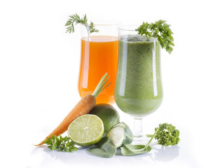 Green and carrot juice