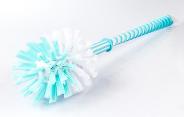 Blue and White Bristles Toilet Brush