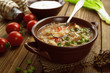 Soup with cabbage and meat - 79083331