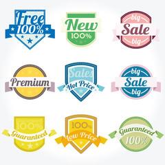 Sales New Premium Quality Labels vector set