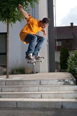 Skateboard Ollie Trick